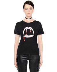 Bedrucktes t shirt mit rundhalsausschnitt original 4110611
