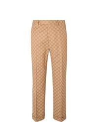 beige Anzughose von Gucci