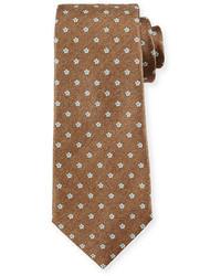 beige bedruckte Krawatte