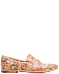 beige bedruckte Leder Slipper von Premiata
