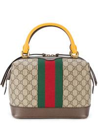 beige bedruckte Shopper Tasche von Gucci
