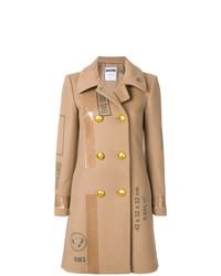 beige bedruckter Mantel von Moschino
