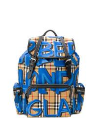 beige bedruckter Rucksack von Burberry