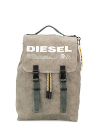 beige bedruckter Rucksack von Diesel
