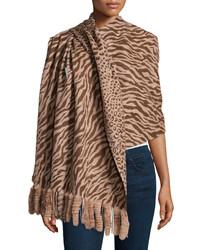 beige bedruckter Schal