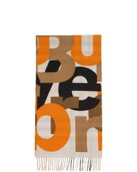 beige bedruckter Schal von Burberry