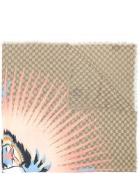 beige bedruckter Schal von Gucci