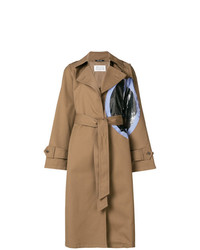 beige bedruckter Trenchcoat von Maison Margiela