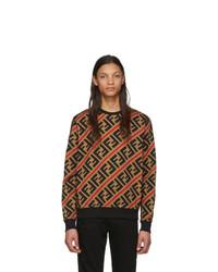 beige bedrucktes Sweatshirt von Fendi
