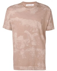 beige bedrucktes T-Shirt mit einem Rundhalsausschnitt von 1017 Alyx 9Sm