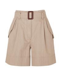 beige Bermuda-Shorts von Brunello Cucinelli