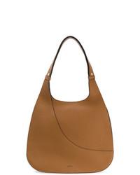 beige beschlagene Shopper Tasche aus Leder von Hogan