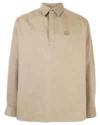 beige bestickter Polo Pullover von Kenzo