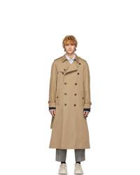 beige bestickter Trenchcoat von Gucci