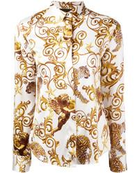 beige Bluse von Philipp Plein