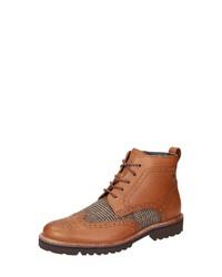 beige Brogue Stiefel aus Leder von Sioux