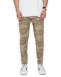 beige Camouflage Chinohose