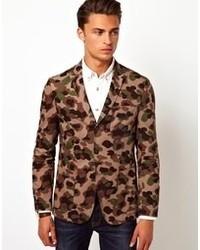 beige Camouflage Sakko