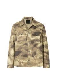 beige Camouflage Shirtjacke
