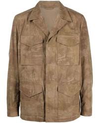 beige Camouflage Shirtjacke von Etro