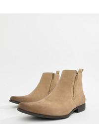 beige Chelsea-Stiefel aus Wildleder von ASOS DESIGN