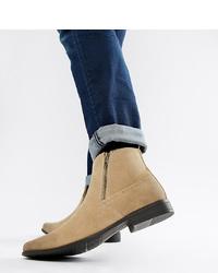 beige Chelsea Boots aus Wildleder von ASOS DESIGN