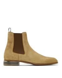 beige Chelsea Boots aus Wildleder von Christian Louboutin