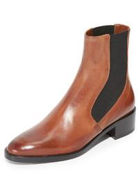 beige Chelsea-Stiefel aus Leder von Vince