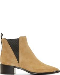beige Chelsea-Stiefel aus Wildleder von Acne Studios