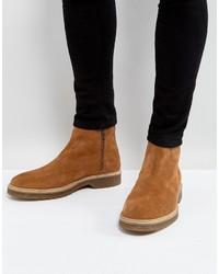 beige Chelsea-Stiefel aus Wildleder von Asos