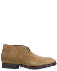 Beige Chukka-Stiefel aus Wildleder von Brunello Cucinelli