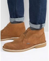 beige Chukka-Stiefel aus Wildleder von Lambretta