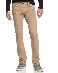 beige enge Jeans