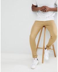 beige enge Jeans von ASOS DESIGN