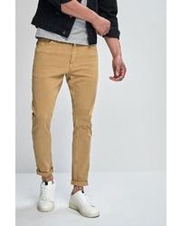 beige enge Jeans von next