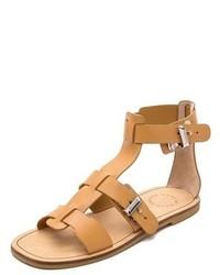 beige flache Sandalen aus Leder von Marc by Marc Jacobs