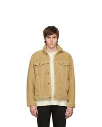 beige Fleece-Shirtjacke