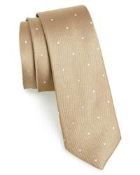 beige gepunktete Krawatte
