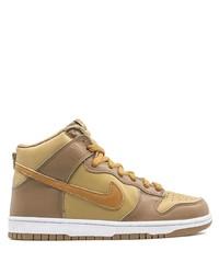 beige hohe Sneakers aus Leder von Nike