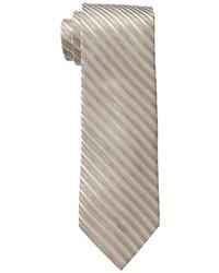 beige horizontal gestreifte Krawatte