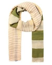 beige horizontal gestreifter Schal von Only
