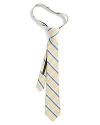 beige Krawatte mit Schottenmuster