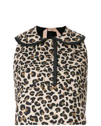 beige kurzes Oberteil mit Leopardenmuster von N°21