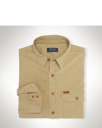 beige Langarmhemd