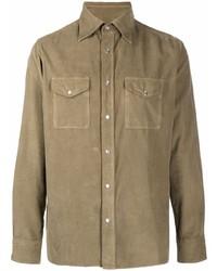 beige Langarmhemd von Tom Ford