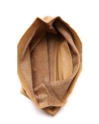 beige Leder Clutch von Marie Turnor