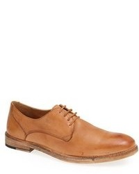 beige Leder Derby Schuhe