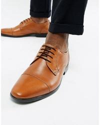 beige Leder Derby Schuhe von Pier One