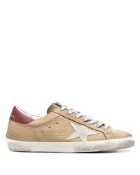 beige Leder niedrige Sneakers von Golden Goose