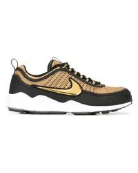 beige Leder niedrige Sneakers von Nike